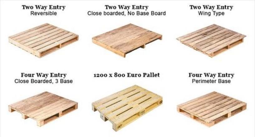 Các dangh chiều nâng của pallet gỗ