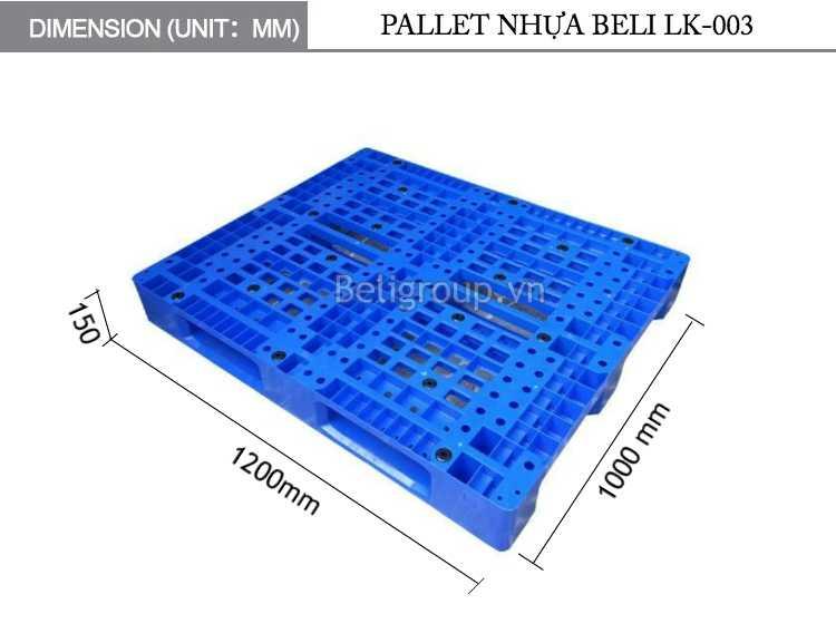 KÍCH THƯỚC PALLET NHỰA BELI LK 003 1200 1000 150 - Bộ sưu tập hình ảnh pallet nhựa - pallet gỗ