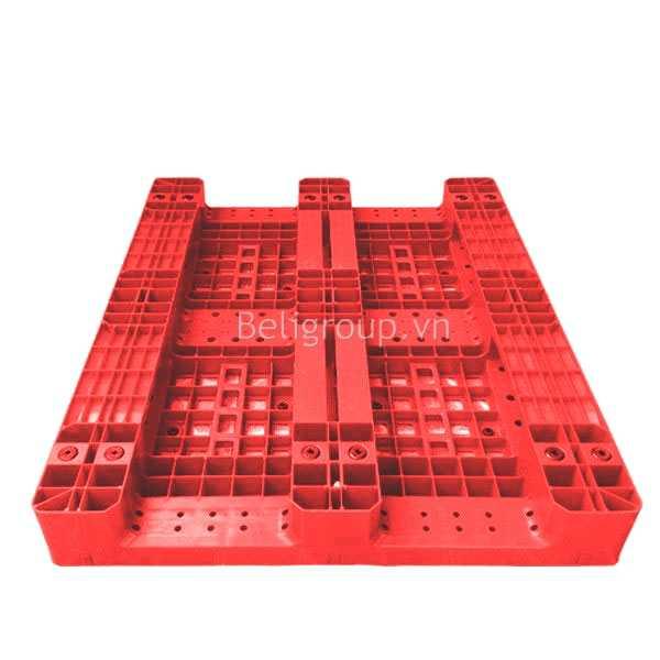 MẶT DƯỚI PALLET NHỰA BELI LK 003 đỏ - Bộ sưu tập hình ảnh pallet nhựa - pallet gỗ