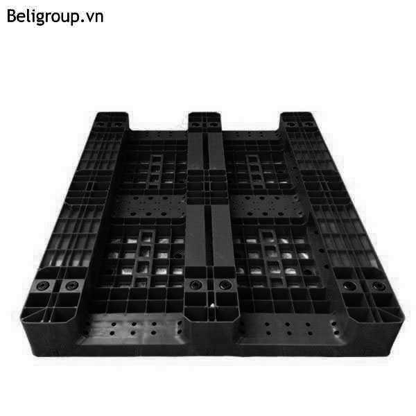 MẶT DƯỚI PALLET NHỰA BELI LK 003 màu đen - Bộ sưu tập hình ảnh pallet nhựa - pallet gỗ