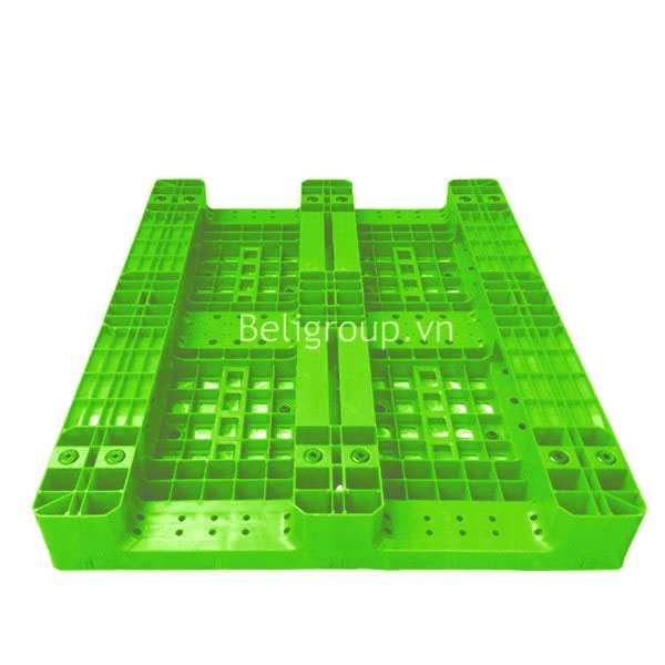 MẶT DƯỚI PALLET NHỰA BELI LK 003 xanh lá - Bộ sưu tập hình ảnh pallet nhựa - pallet gỗ