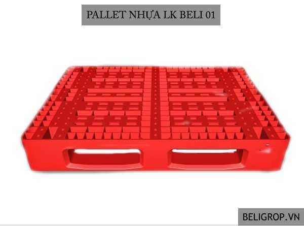 PALLET NHỰA LK BELI 01 ĐỎ - Beli Group
