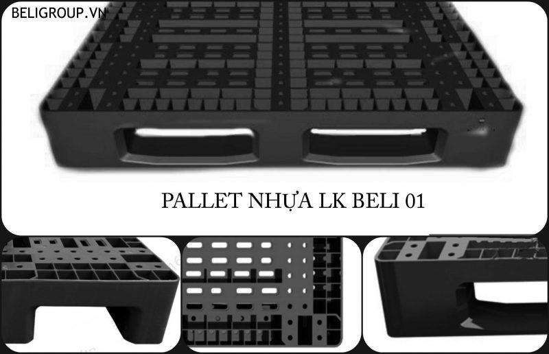 PALLET NHỰA LK BELI 01 ĐỎ - Beli Group - TÁI CHẾ PP