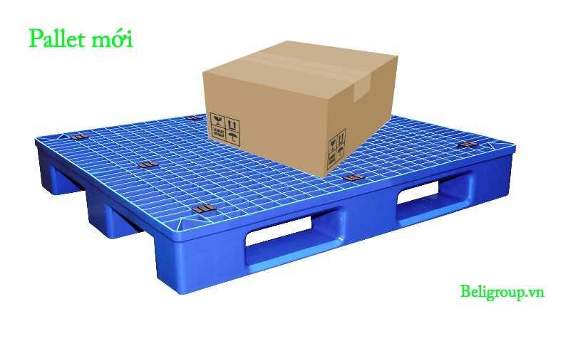 Pallet nhựa mới màu xanh kê hàng beli Group