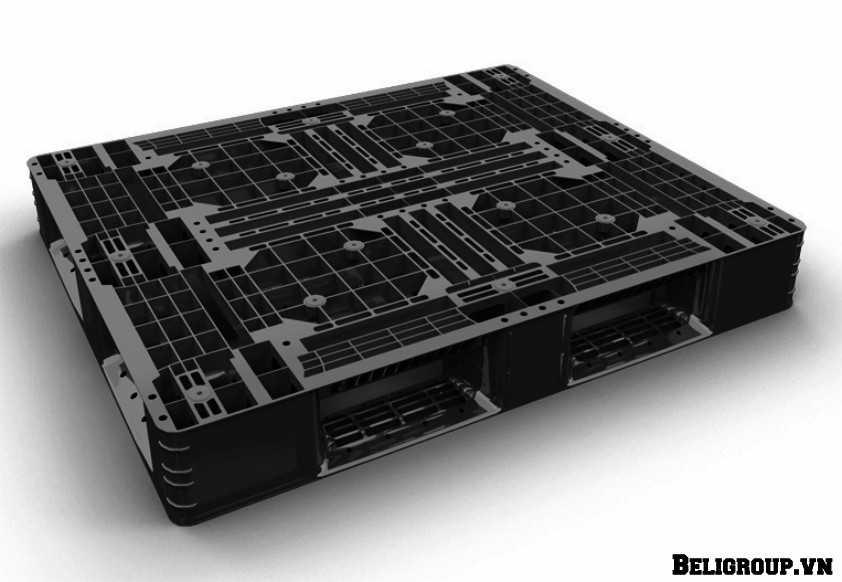 pallet nhựa lót sàn liền khối beli 002 màu đen xuất khẩu optimized - Pallet nhựa mới