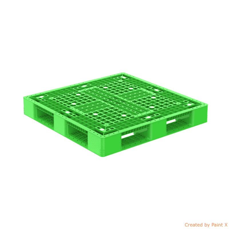pallet nhua dt d4 977 mau xanh la optimized - Chi tiết pallet nhựa từ A -> Z, Khi mua bán cần biết