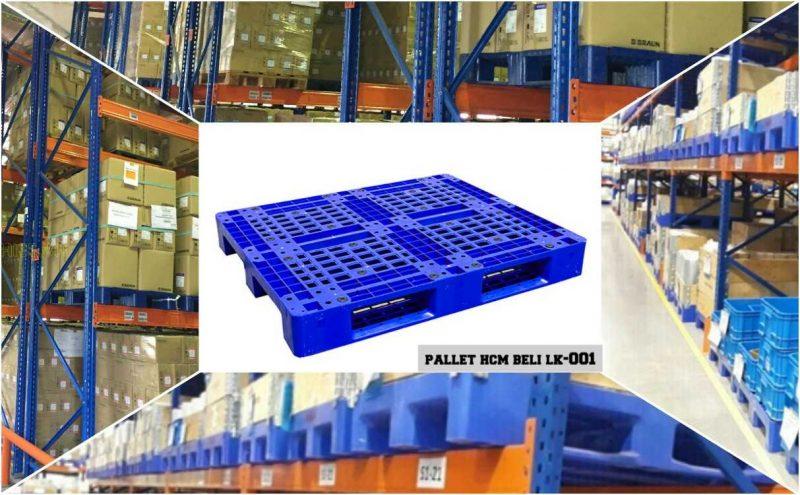 Pallet nhựa hcm ứng dụng vận hành kho nhà máy