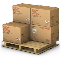 Hình Thùng hàng kê trên pallet gỗ nặng 1 tấn