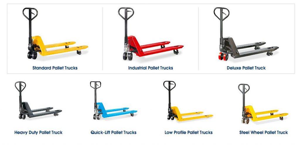 Hình Xe nâng tay tải trọng nhẹ và nặng dùng cho pallet