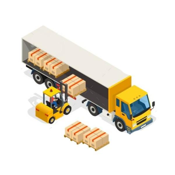 xuất khẩu chuyển hàng bằng xe nâng và pallet gỗ