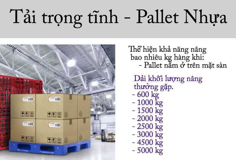 tải trọng tĩnh của pallet nhựa