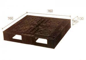 pallet nhựa B.7676E 300x212 - Pallet nhựa 760x760x130 mm