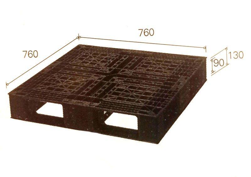 pallet nhựa B.7676E 800x564 - Pallet nhựa 760x760x130 mm