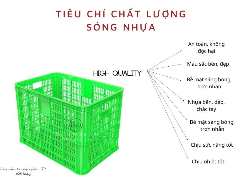Đánh giá chất lượng sóng nhựa hở 3T9 Beli Group