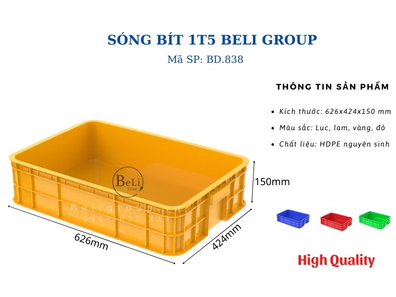 Khay nhựa bít 1T5 Beli Group