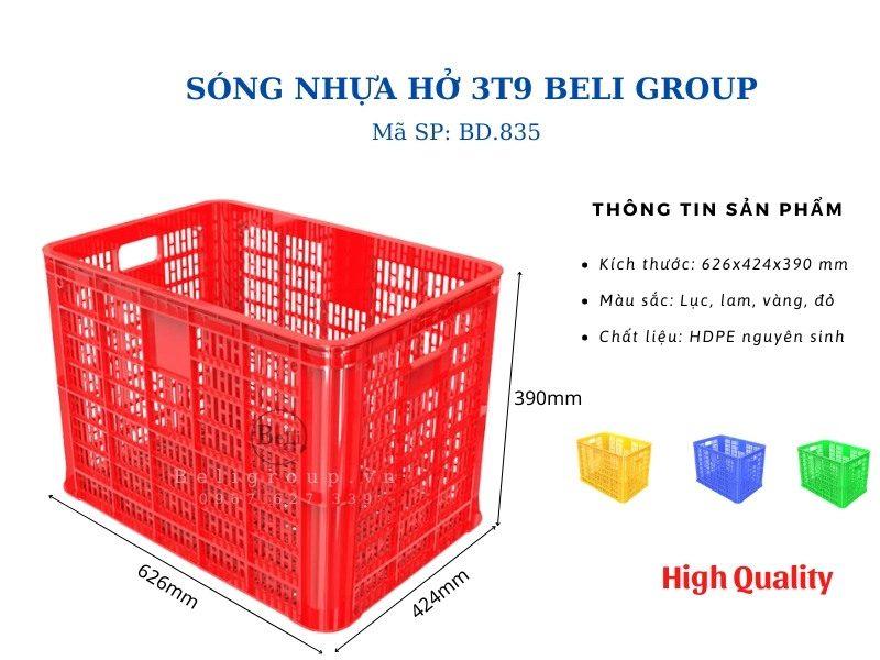 Sóng nhựa hở 3T9 Beli Group