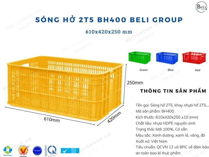Khay nhựa hở 2T5 BH400 Beli Group