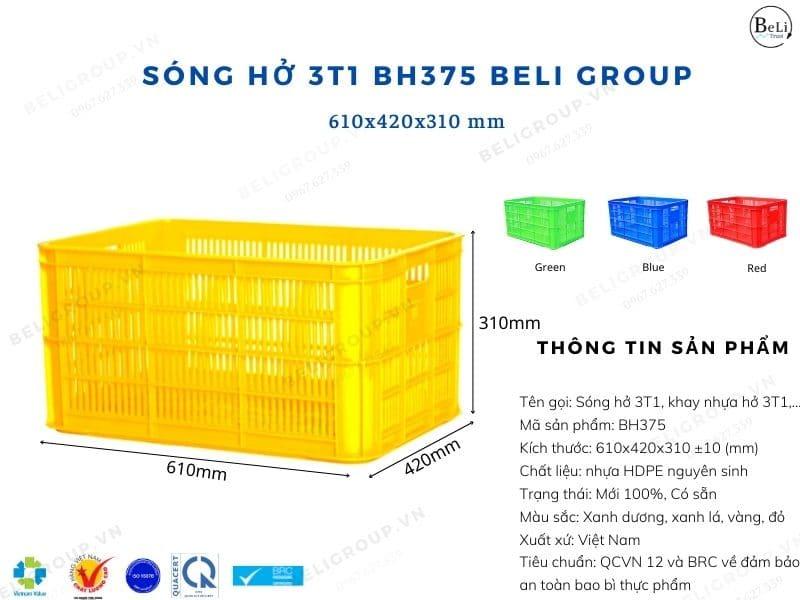 Khay nhựa hở 3T1 BH375 Beli Group