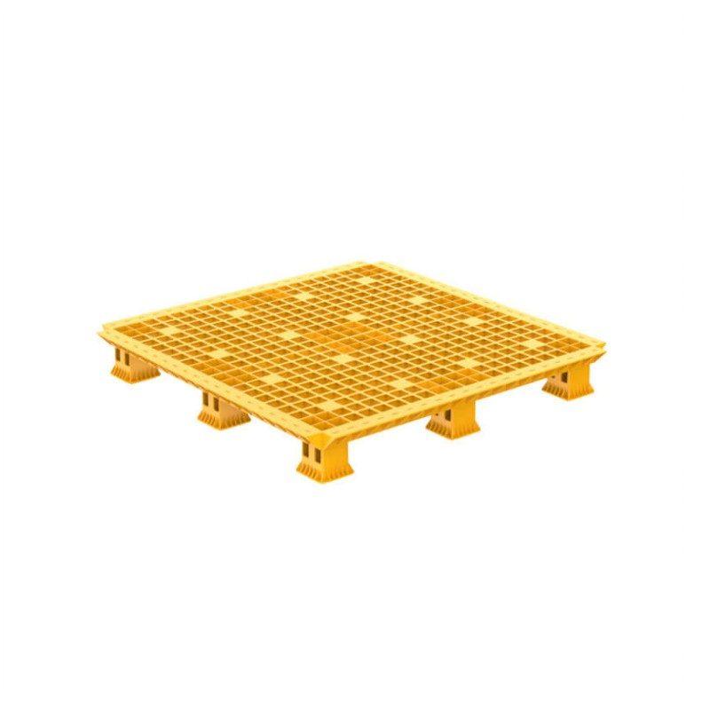 Pallet nhựa lắp ráp 1.1M Yellow