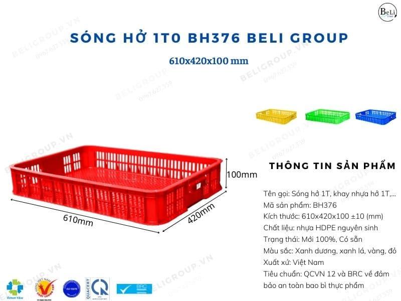 Sóng nhựa hở 1T0 BH376 Beli Group
