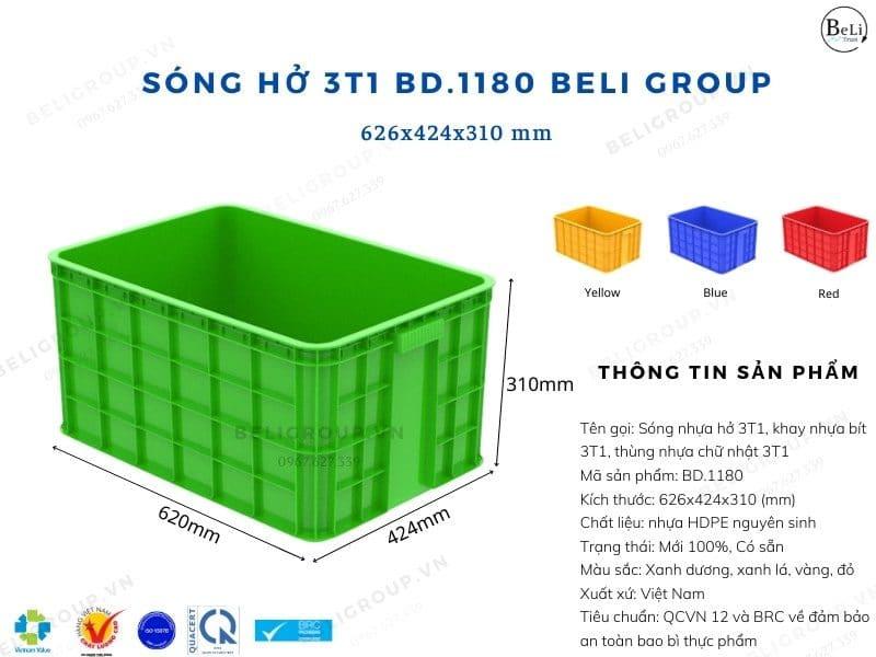 Khay nhựa bít 3T1 BD.1180 Beli Group
